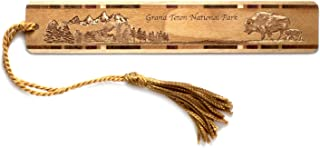 product image for Personalized Grand Teton National Park, Wyoming Engraved Wooden Bookmark with Tassel