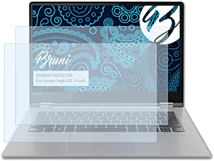 crystal clear Protective Film Bruni Screen Protector for Lenovo Yoga 3 Pro Protector Film 2X
