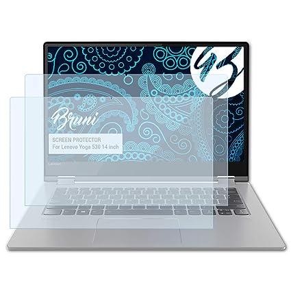 Bruni Película Protectora Compatible con Lenovo Yoga 530 14 Inch Protector Película, Claro Lámina Protectora (2X)