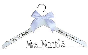 Frau Smith Kleiderbügel, Hochzeit Custom Name Kleiderbügel, Custom ...