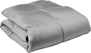 Blue Ridge Home Fashions Luxury 1000 Thread Count Pima Cotton Down Alternative Comforter - Year Round, All Season Cover, King, Gray