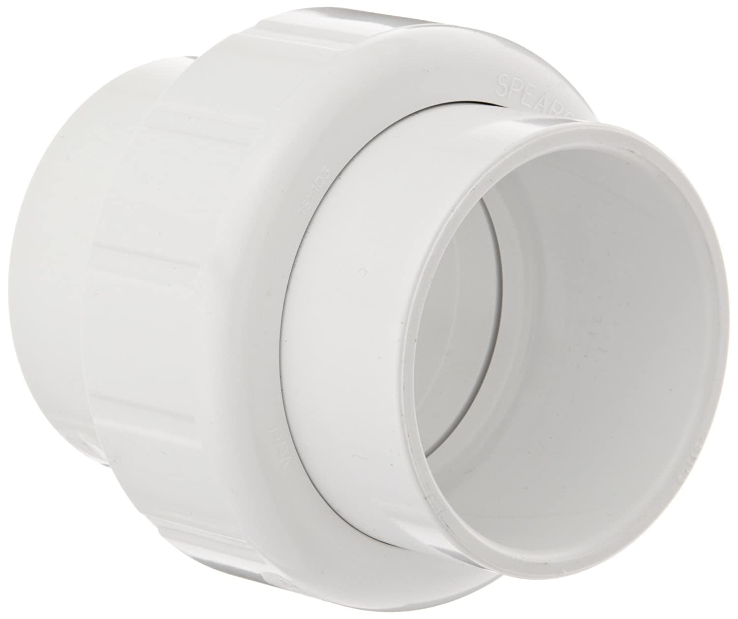 Spears 497 Series PVC Pipe Fitting, Union with EPDM O-Ring, Schedule 40, 1 Socket 1 Socket Spears Manufacturing 497-010