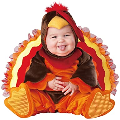 Amazon.com: InCharacter Baby Lil\' Gobbler Turkey Costume: Clothing