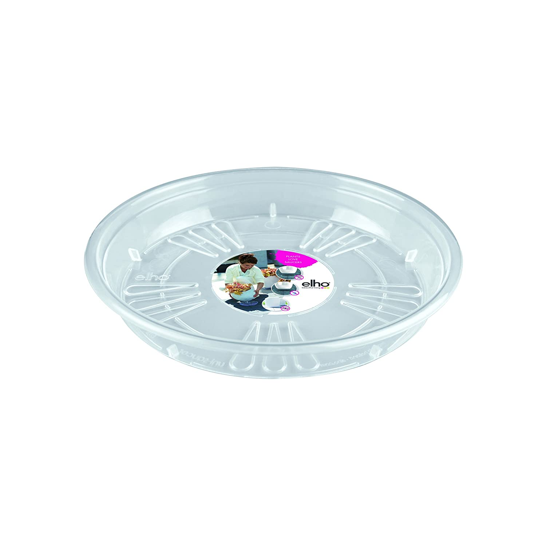 Elho 2055202 Uni-Trasparente Rotondo Piattino 25 x 25 x 3 cm