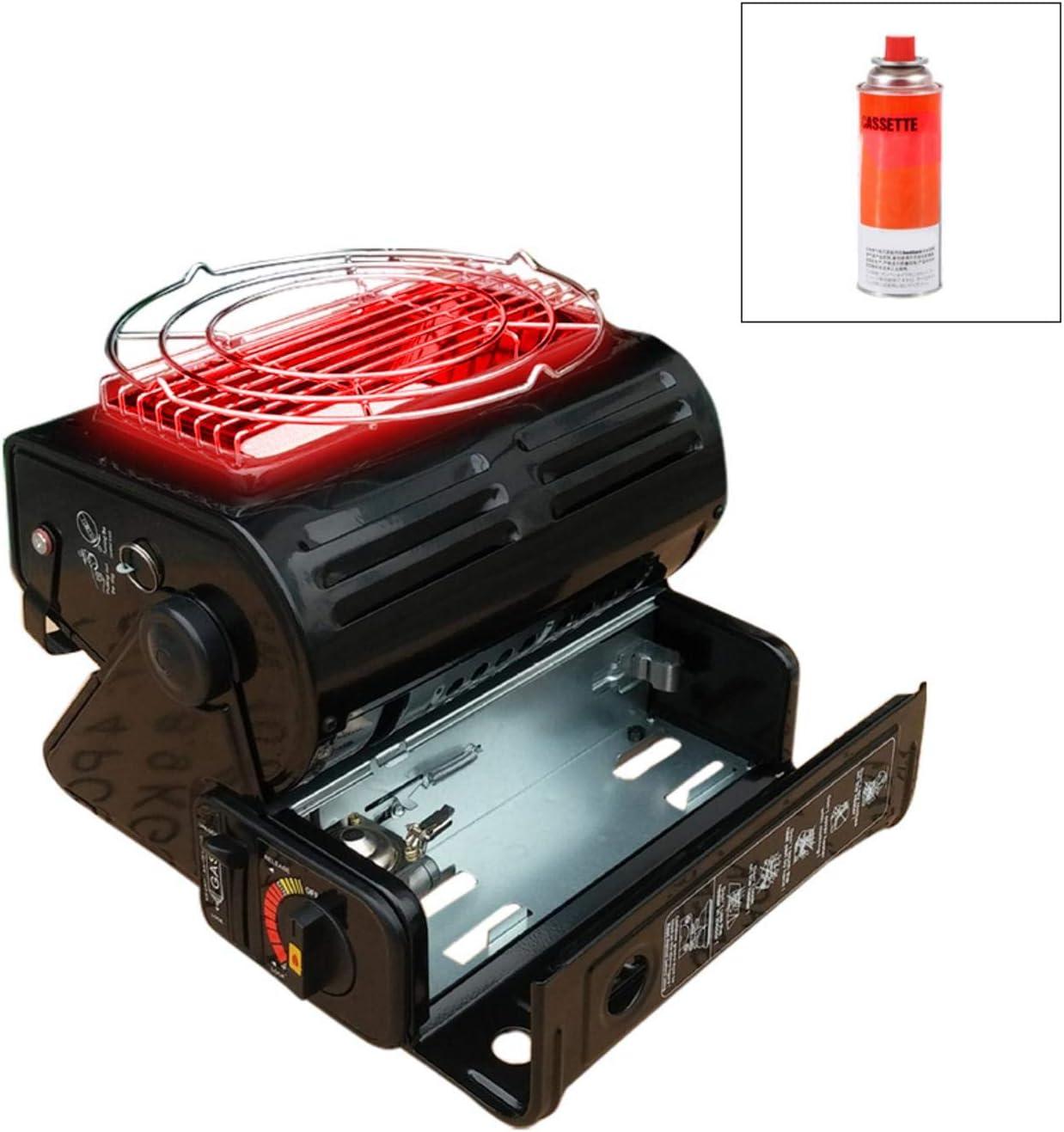 Dream-cool - Calentador de Gas butano, Calentador de Aire Libre, portátil, Calentador de Gas, Camping y butano, para Picnic, Viajes, reuniones ...