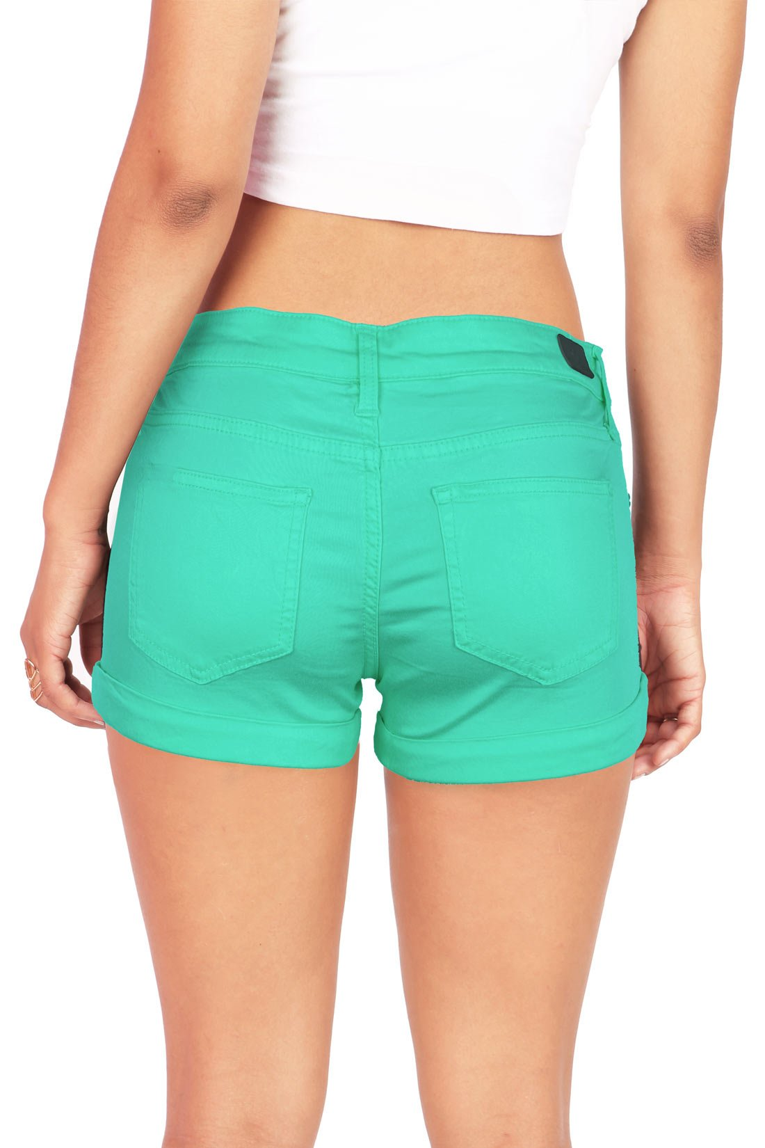 Celebrity Pink Women's Juniors Casual Cuffed Design Shorts (9, Jade) by Celebrity Pink (Image #3)