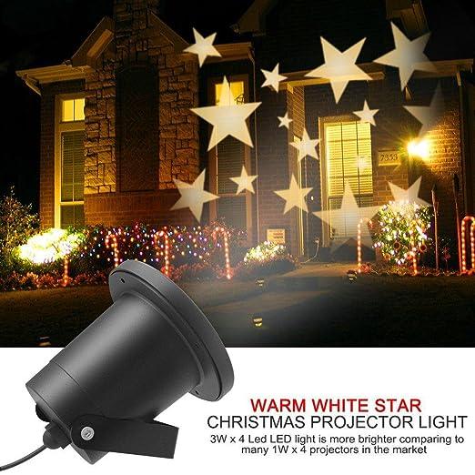 LUCKY Suerte Diosa Navidad Proyector Luz Blanca Cálida de Star ...