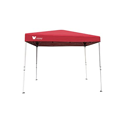 SORARA 6' X 4' Ez Pop-up Canopy Tent Gazebo Commercial Market Stall with Carry Bag, Watermelon Red : Garden & Outdoor