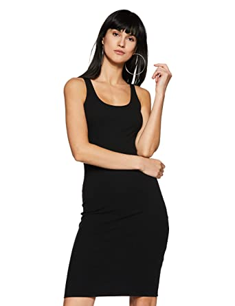 7033c394f Forever 21 Women's Body Con Dress (84746, Black, Small): Amazon.in: Clothing  & Accessories