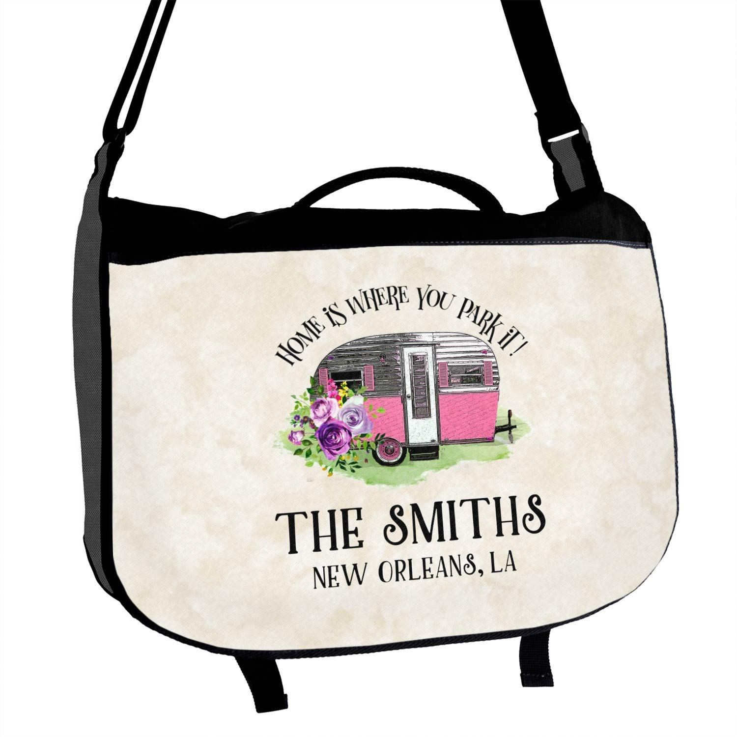 Camper Messenger Bag Personalized