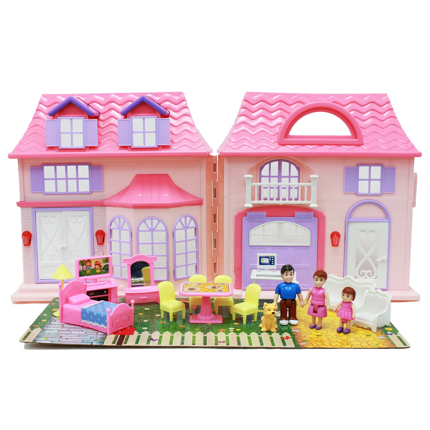 Amazon Boley Pretend Play Doll House Toy 21 Piece