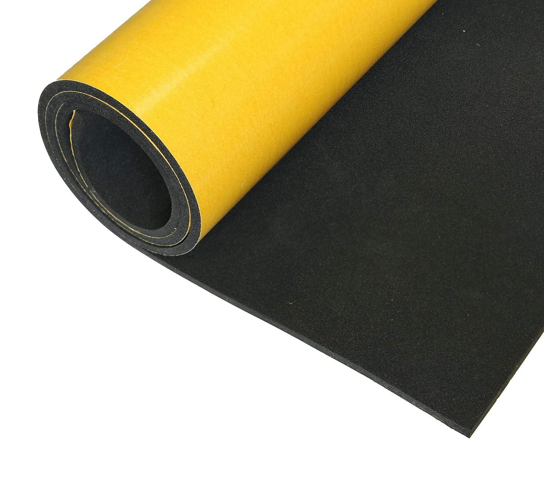 EPDM Plaques de caoutchouc cellulaire autocollantes 0,5 m x 1 m /Épaisseur 3 mm