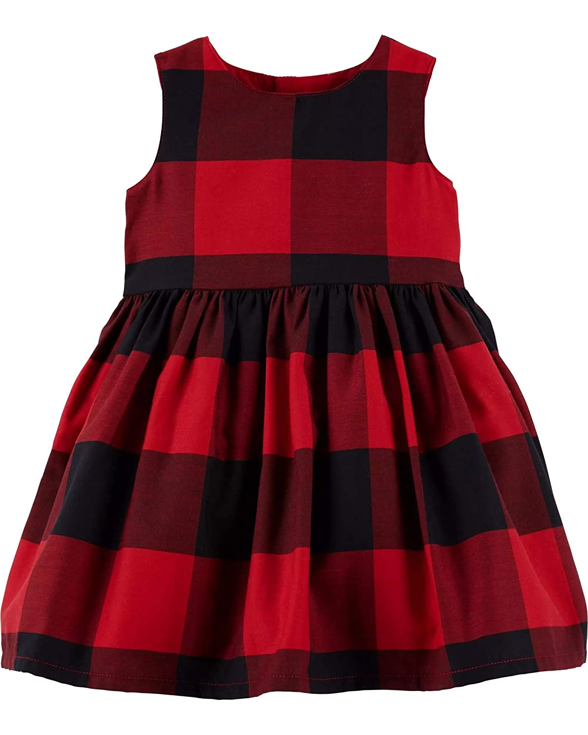 Amazon.com  Carter s Baby Girls Red Buffalo Check Holiday Dress  Clothing 01a922410