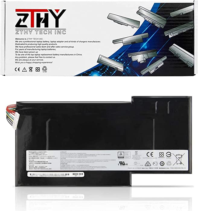 ZTHY 64.98Wh BTY-M6J Notebook Battery for MSI GS63 7RE-009CN 018CN GS63VR 6RF-016CN 7RF-258CN 239CN 095CN GS73 7RE-004CN GS73VR 6RF-013CN 7RF-284CN Stealth Pro Gaming Laptop BTY-U6J 11.4V
