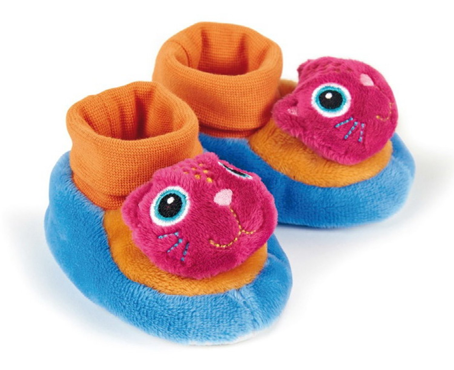 Little Helper Oops Sumptuously Soft Cute Booties/Slippers with Non-Slip Grip and Rattle in Cute Cat Design 61001.21