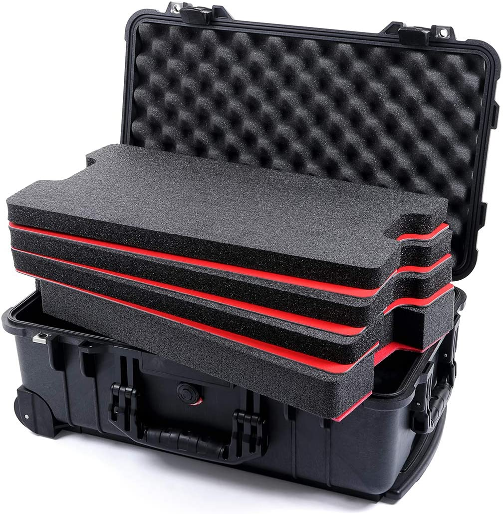 Black Pelican 1510 case with Custom Tool Control Foam Inserts & ABS Plastic
