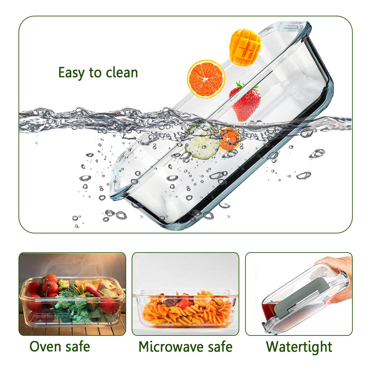 Amazon.com: [5 paquetes, 30 oz] recipientes de vidrio para ...