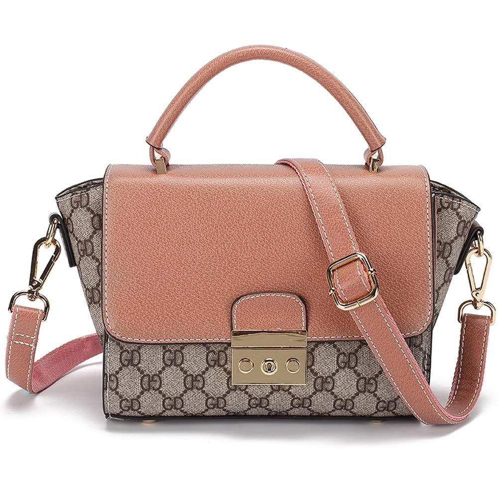 WJ ショルダーバッグ - のどの革/生地、レトロなシンプルなファッション野生の翼のショルダーバッグ吊り女性の正方形のバッグ - 2色のオプション /-/ (色 : ピンク) B07QDMQF6R ピンク