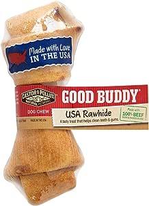20 Treats Good Buddy Mini USA Rawhide Rolls