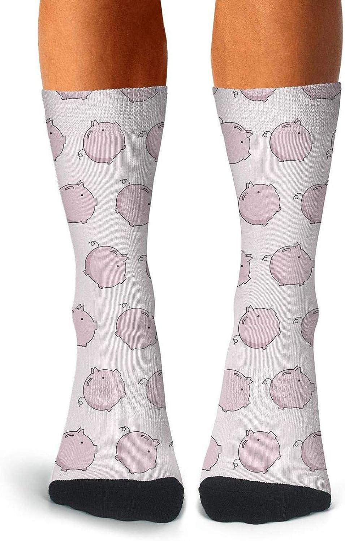 Mens Pig Unicorn with Wings Socks Cool Crew Tube Socks