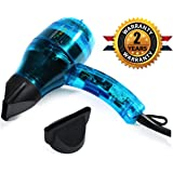 Professional Ionic Hair Dryer Handcrafted in France for Europe's Top Salons, Dual Ion Generator Function Builds Shine & Volume 1600w, Featherweight