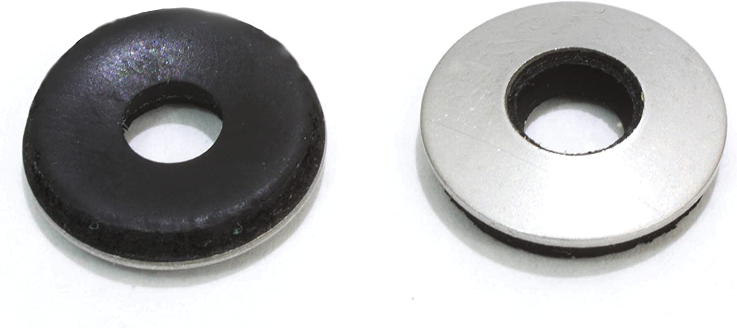 "1/4"" x 5/8"" OD Stainless EPDM Washers, (100 pc) Neoprene Backed, Choose Size & Qty, by Bolt Dropper."