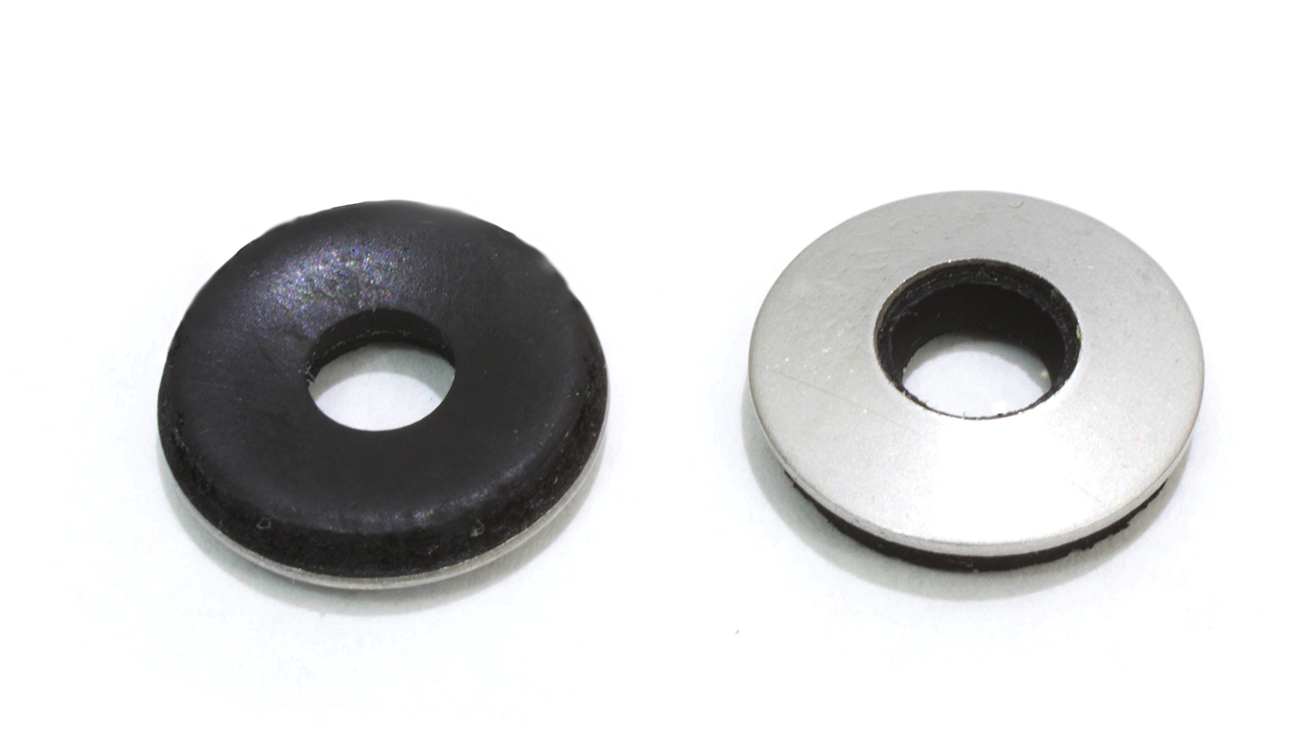 1/4'' x 5/8'' OD Stainless EPDM Washers, (100 pc) Neoprene Backed, Choose Size & QTY, By Bolt Dropper.