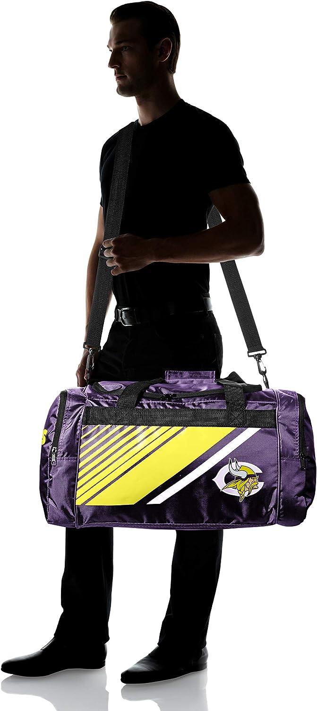 Minnesota Vikings Border Stripe Duffle Bag
