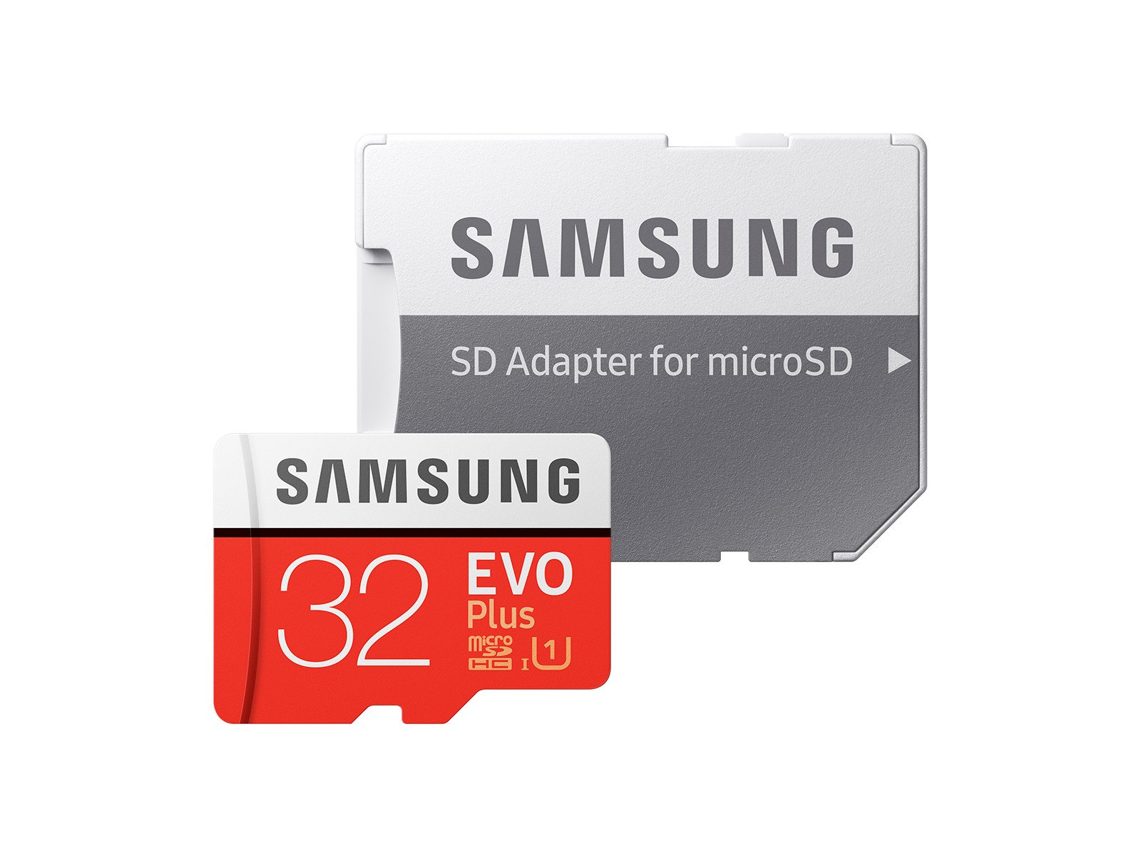 SAMSUNG 32GB EVO Plus MicroSDHC w/Adapter (2017 Model) 5 Samsung Original Models Available: MB-MC32GA, MB-MC64GA, MB-MC128GA, MB-MC256GA Compatible with a wide range of devices for both SD and micro SD (Includes Full-Size SD Adapter.) Excellent Performance for 4K UHD Video and broad compatibility across multiple applications
