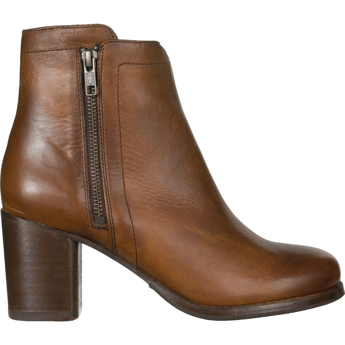 FRYE Women's Addie Double Zip Boot, Whiskey Oil Tanned Full Grain, 6 M US