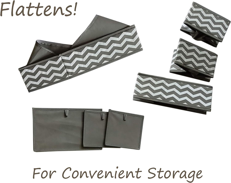 Brown 2 Pack mDesign Soft Fabric Dresser Drawer//Closet Storage Organizer