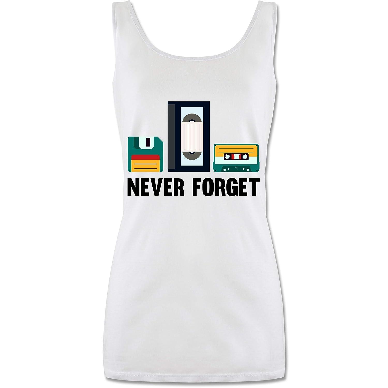 Shirtracer Nerds /& Geeks Never Forget lang-geschnittenes Tanktop f/ür Damen