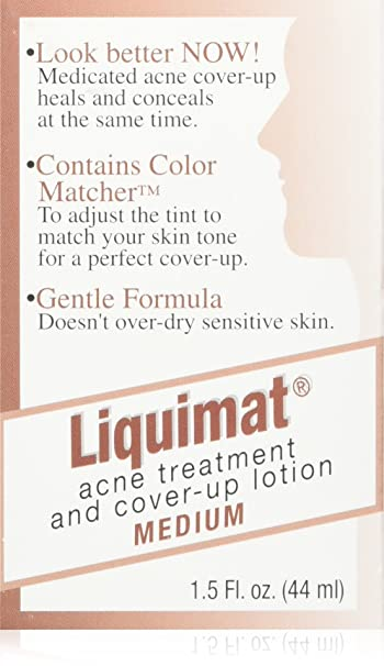 4 Pack - Liquimat Acne Treatment and Cover-Up Lotion Medium 1.50 oz Eos Evolution of Smooth - Lip Balm Sphere Blackberry Nectar - 0.25 oz. (pack of 2)