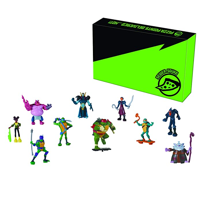 Teenage Mutant Ninja Turtles TMNT 10pc Mini Figures Set