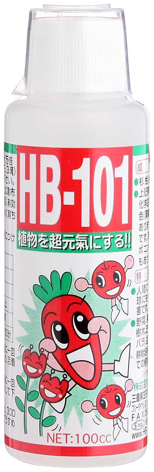 Flora HB-101 100cc PlantLiquid which strengthens very much the plant which a Japanese professional uses It is safe although people drink by the vegetable origin.