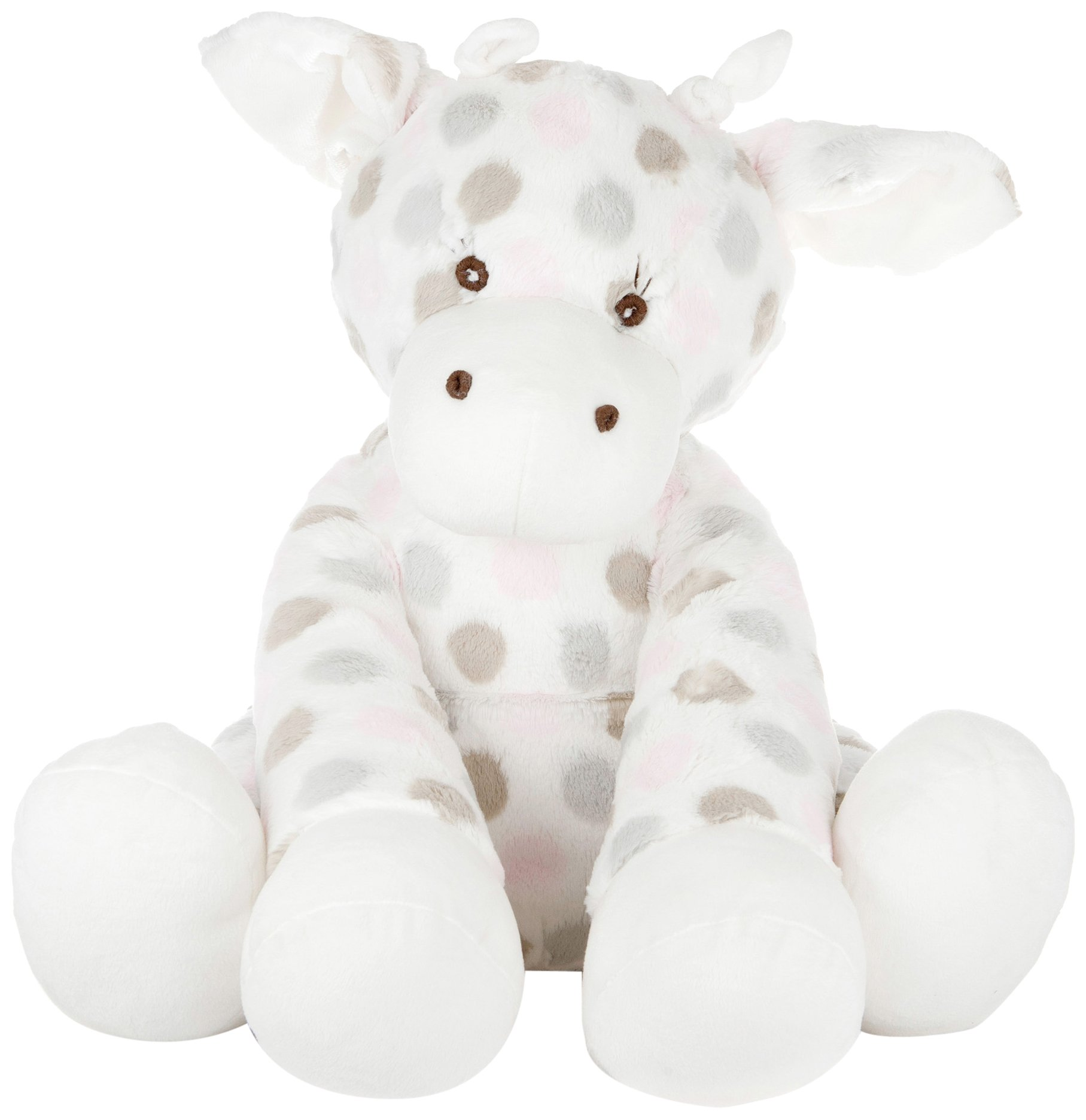 Little Giraffe™ Big G Plush Giraffe in Luxe™ Dot™ fabric for boys and girls