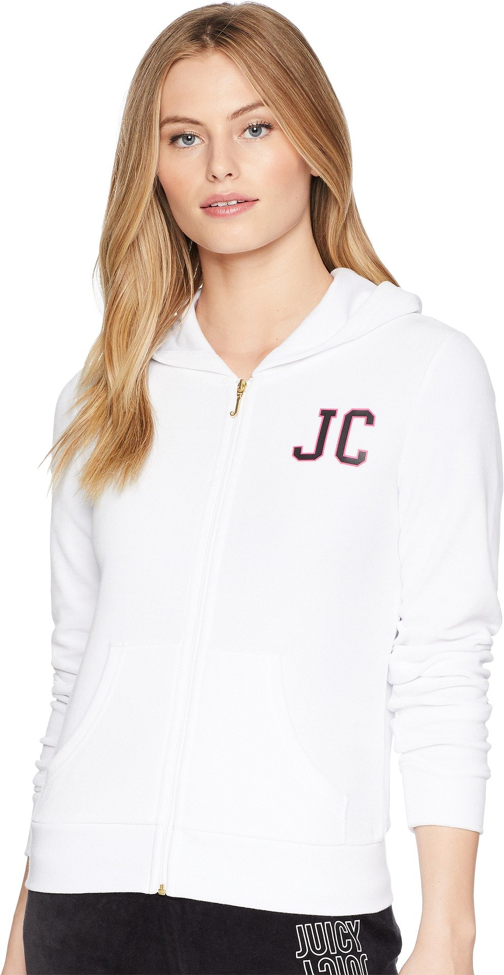 Juicy Couture Women's Robertson Jacket w/Varsity Logo White Medium by Juicy Couture