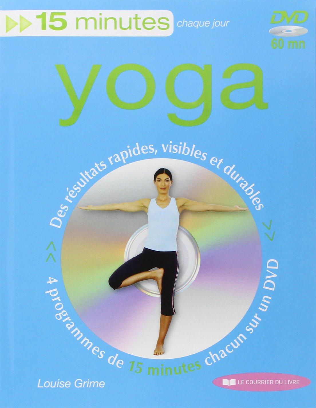 15 minutes yoga livre+DVD 15 minutes par/chaque jour: Amazon ...
