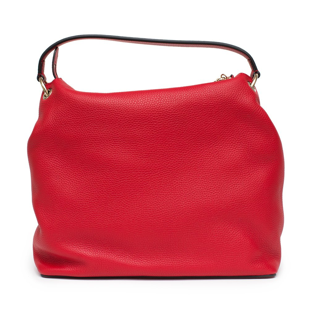 Gucci Soho Flame Red Leather Bag Soft Hobo Italy Handbag New by Gucci (Image #2)