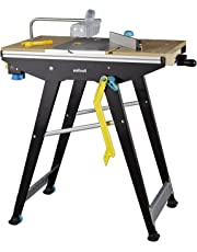 wolfcraft MASTER Cut 1500 Werk- und Maschinentisch 6906000 inkl. Zubehör | Kompatibel mit Handkreissägen, Oberfräsen, Stichsägen | Ideal für Heim- und Handwerker