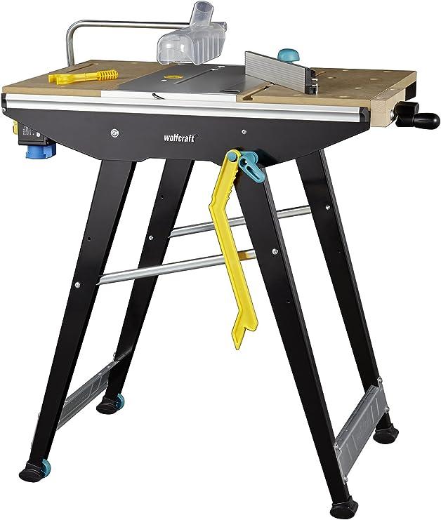 wolfcraft MASTER Cut 1500 Werk und Maschinentisch 6906000 inkl. Zubehör | Kompatibel mit Handkreissägen, Oberfräsen, Stichsägen | Ideal für Heim und
