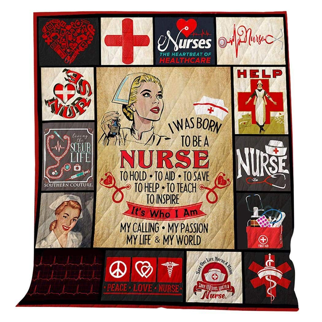 eubell Camping Mat Be A Nurse Quilt, Unique Decorative Blanket,Soft Microfiber Lightweight Quilts for All Season by eubell