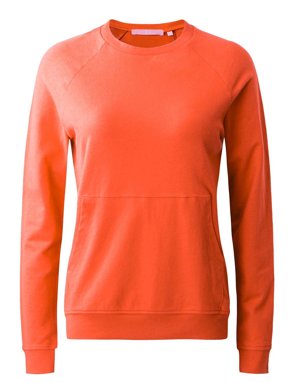 Regna X Women's Long Sleeve Crewneck Solid Color Pullover Sweatshirts Women