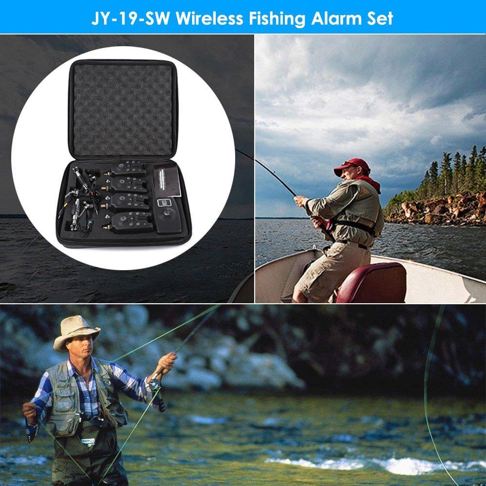 JY - 19 - SW LED Kit de Alarma de Pesca con Receptor ...