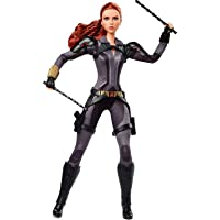 Marvel's Black Widow Barbie Doll, 11.5-in, Poseable with Red Hair, Wearing Armored Bodysuit and Boots, Gift for…