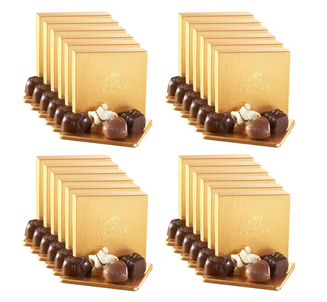Godiva Chocolatier 24 Individually Packaged, 4-Piece Belgian Chocolate Gold Ballotins, Perfect for Bridal Showers - Parties - Wedding Favors by GODIVA Chocolatier (Image #2)
