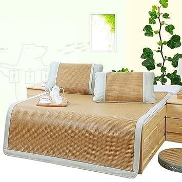 Estera para dormir YNN Rattan Mat Cool Mat Cama Individual Plegable de bambú Summer Ice Silk Mat (Tamaño : 1.35m (4.5 ft) Bed): Amazon.es: Hogar
