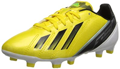 Adidas F10 TRX FG Soccer Cleats - Bright Yellow/Black/White (Kid's)