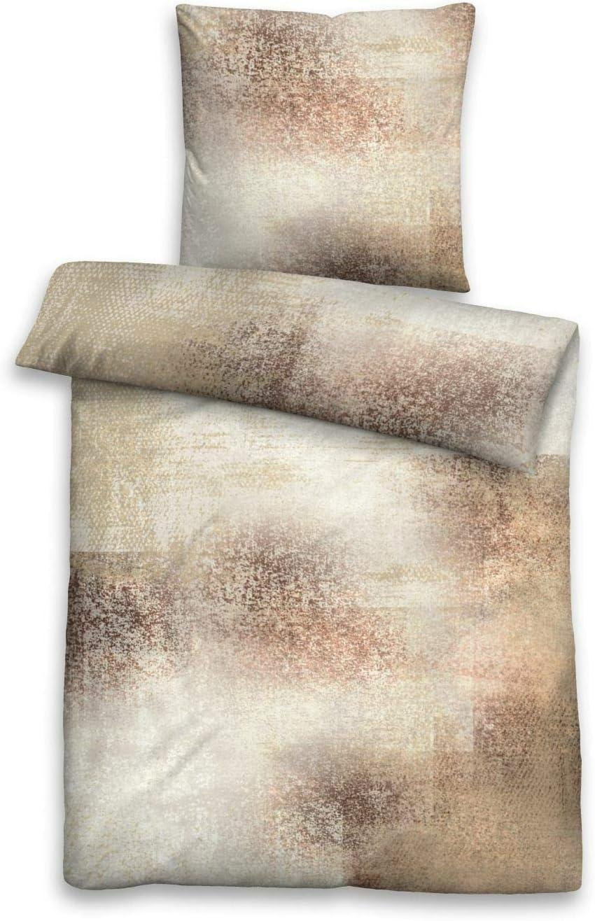 biberna 0636063 - Juego de Funda de edredón y Funda de Almohada (algodón Mercerizado, 135 x 200 cm y 80 x 80 cm), Color Granate