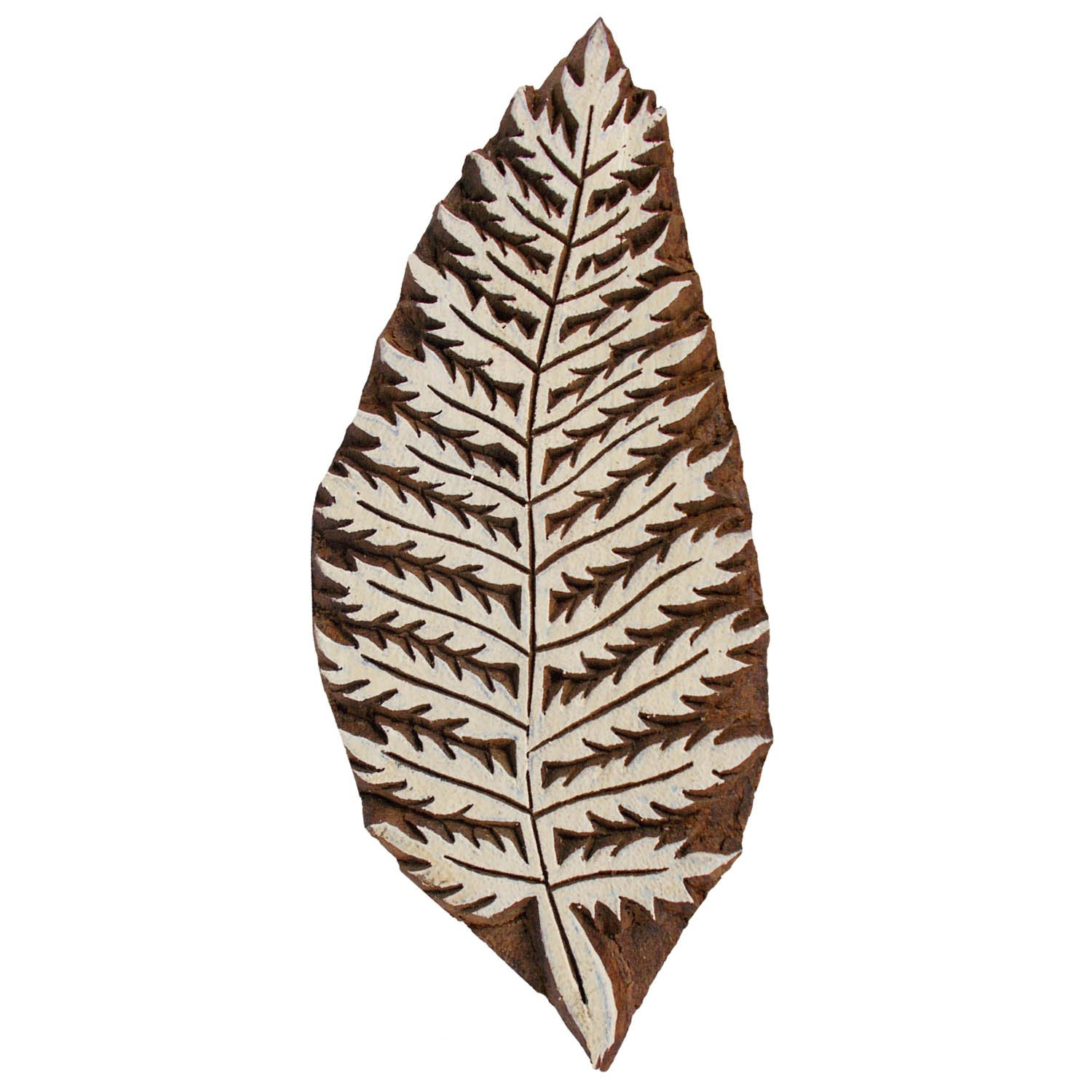 Ferns Leaf Textile Printing Clay Potter Block Craft Henna Tattoo Scrapbook Stamps